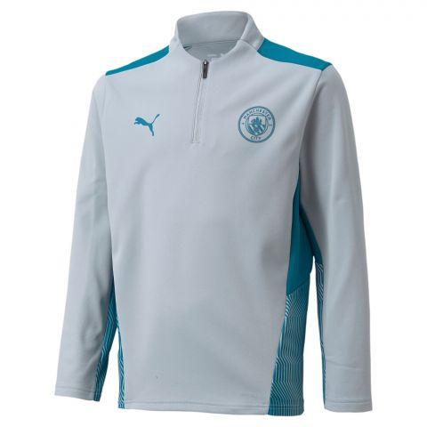 Puma-Manchester-City-FC-1-4-Zip-Top-Trainingssweater-Junior-2108241824